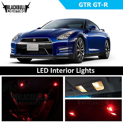 Red LED Interior Lights Replacement Package Kit fits 2009-2018 Nissan GTR GT-R