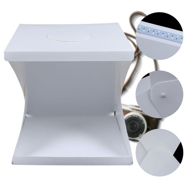 16inch LED Light Room Photo Studio Photography Lighting Tent Kit 4 Backdrop Box
