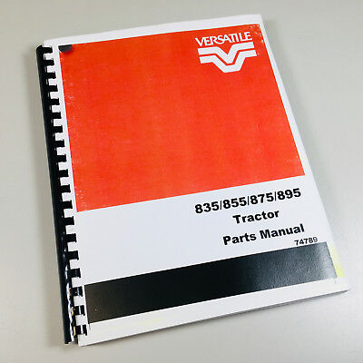 VERSATILE 835 855 875 895 TRACTOR PARTS MANUAL CATALOG ENGINE CHASSIS for sale  Shipping to India