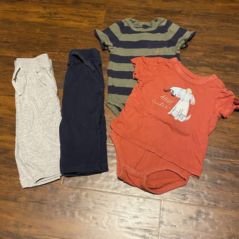 Baby Gap Boys 12-18 Months Clothing Lot Pants Short Sleeve Bodysuit