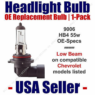 Headlight Bulb Low Beam OE Replacement - Fits Listed Chevy/Chevrolet Models 9006