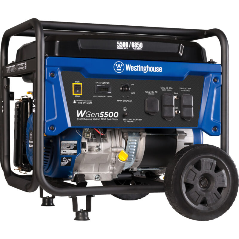 Refurbished Westinghouse WGen5500 Gasoline Powered Portable Generator