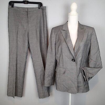 TAHARI PANTS suit,2 PC blazer,jacket,SZ 10,charcoal career work  h7