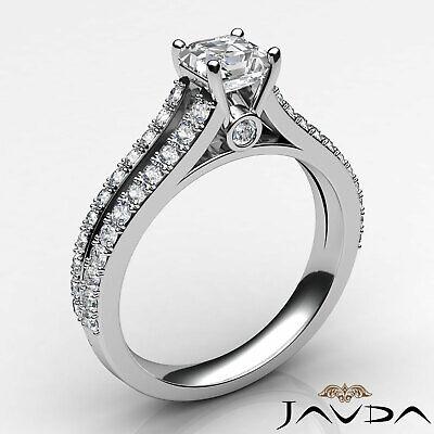 Asscher Cut Prong Set Diamond Womens Engagement Ring GIA G VS2 Platinum 1.15Ct 1