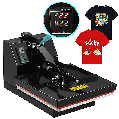 "15"" x 15"" Digital Heat Press Teflon Coated Clamshell T-shirt Transfer Machine"