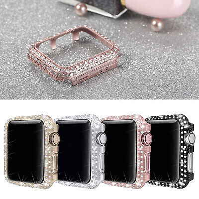 Bling Stainless Steel Case Bezel Cover for Apple Watch 38mm iWatch Series 3 2 1