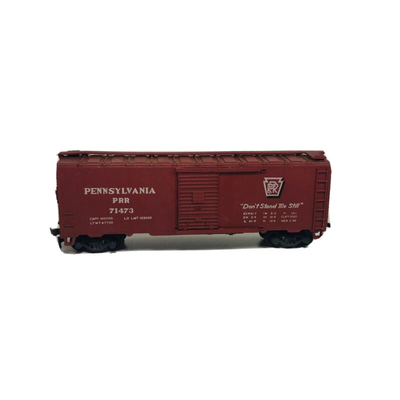 Vintage HO Crown Pennsylvania 40' Box Car PRR # 71473 Freight Train Rail Car