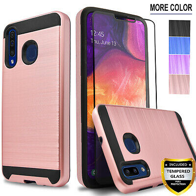 For Samsung Galaxy A50 Phone Case, Cover+Tempered Glass Screen Protector+Pen - Playpen Cover