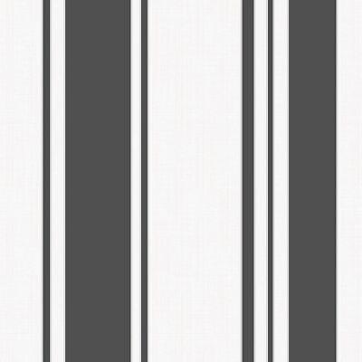 Metallic Stripe Bettwäsche (FINE DECOR METALLIC AMELIA BLACK / WHITE STRIPE WALLPAPER FD41727)