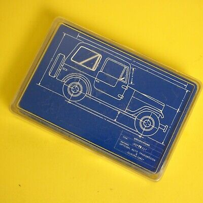 Jeep CJ 7 Playing Cards Case Blue