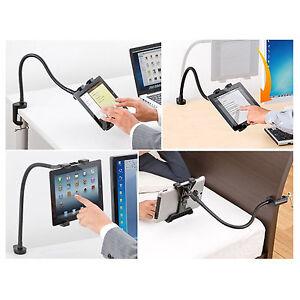 Supporto braccio regolabile estendibile scrivania per for Supporto auto tablet 7 pollici