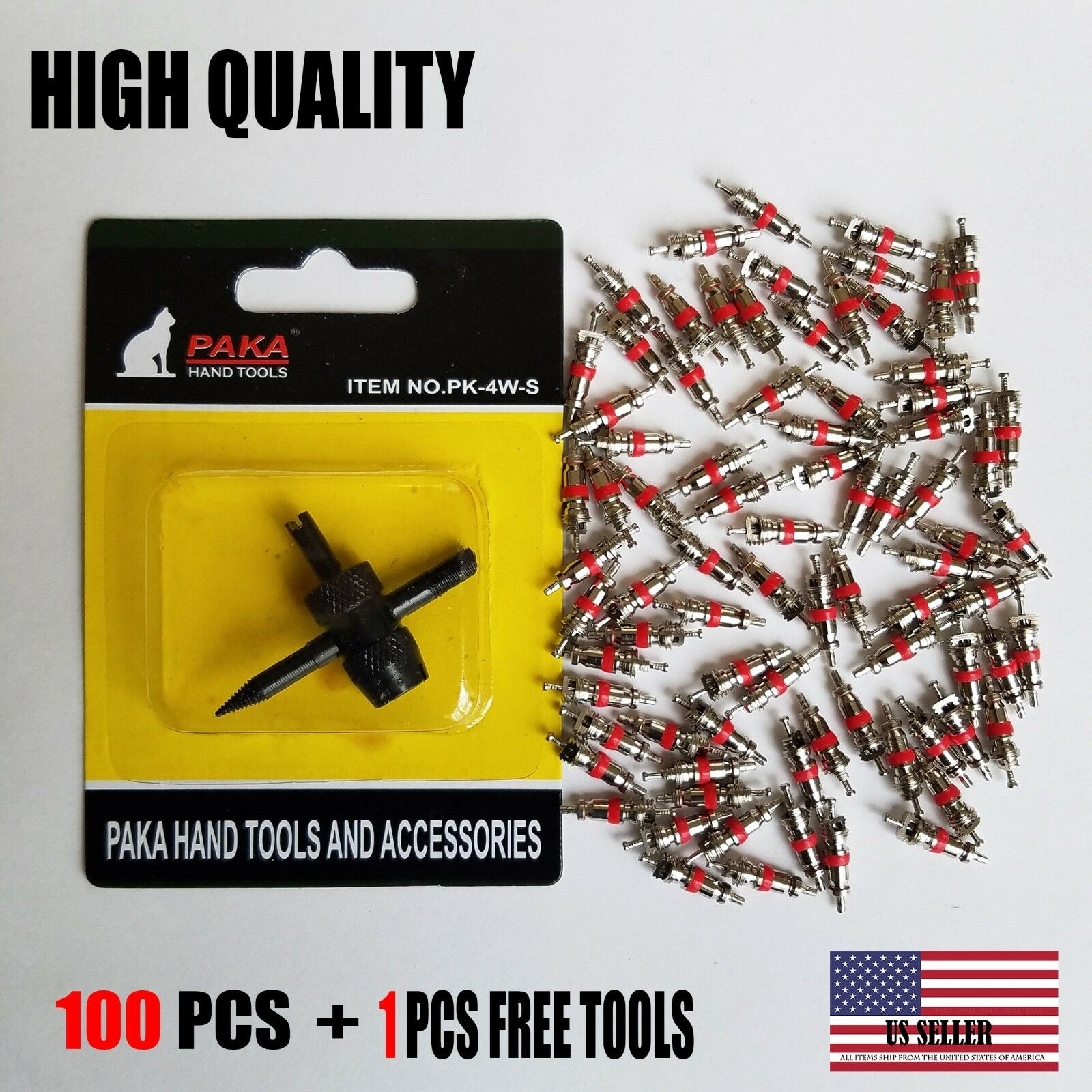 tire valve core universal 100 pcs with free tool