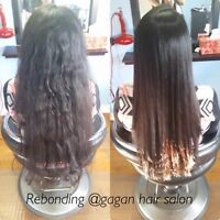 Keratin treatment rebonding Japanese hair straightening
