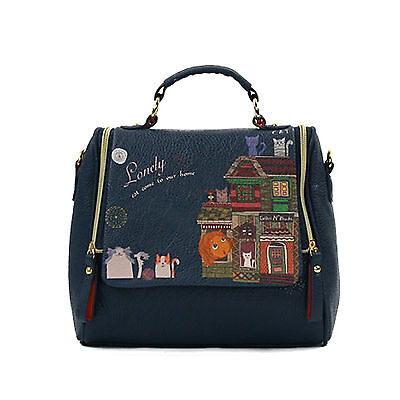 Women Fashion Korean Style Cute Cartoon Print Bags Purses Shoulder Bags Handbag