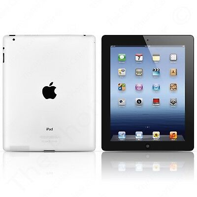 Apple iPad 3rd Gen. Retina Display 9.7in 16GB Wi-Fi (Black) iOS 9