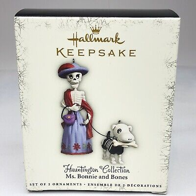 Hallmark Hauntington MS BONNIE AND BONES Halloween Ornament Collection 2005