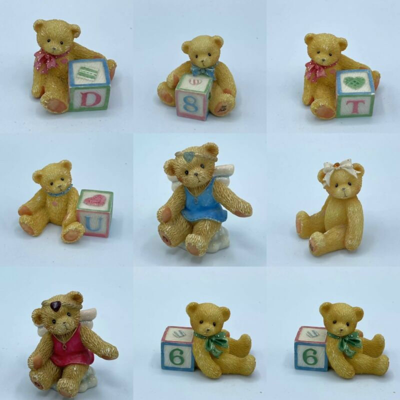 Enesco Priscilla Hillman Lot Of 9 Cherished Teddies Figurines