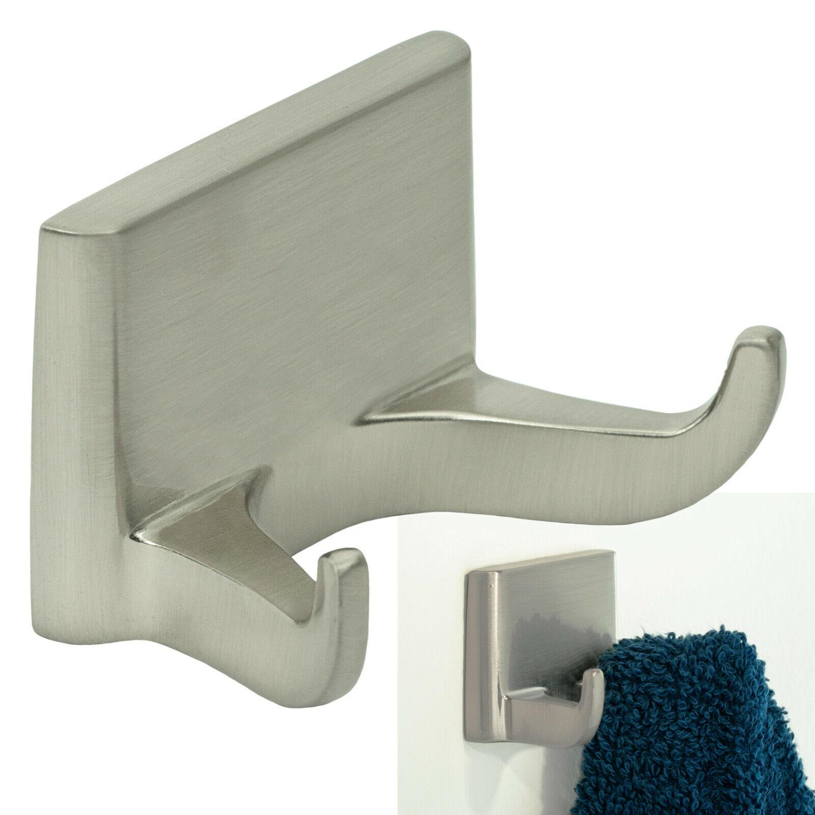Redwood Series Double Robe Hook Bath Hardware Bathroom Accessory, Brushed Nickel Bath