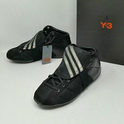 YOHJI YAMAMOTO Adidas Y-3 (Men's Size 8.5) Field Black Leather ultra boost