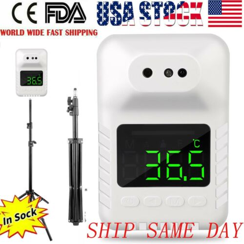 Automatic Wall-Mounted Non-Contact Forehead Thermometer Infrared USA FDA 2020