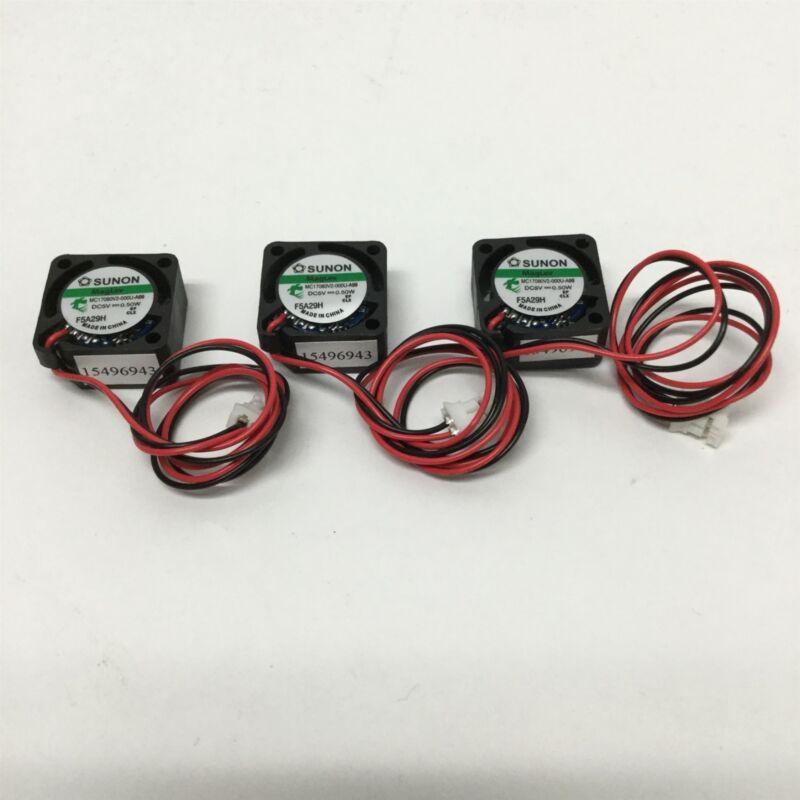 Lot of 3 Sunon MC17080V2-000U-A99 MagLev Miniature Axial Cooling Fans 5VDC