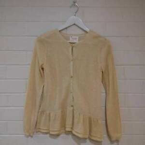 37386fe27a8b Zara Girls Collection Gold Cardigan with Peplum