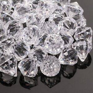 80 x CRAFT CORNER DECORATIVE GEMS Sparkle Sew-On Large Diamond Bead Trimmings