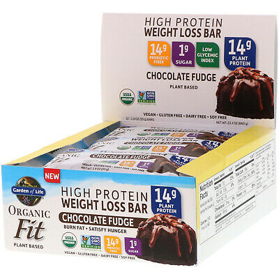 organic fit high protein weight loss bar