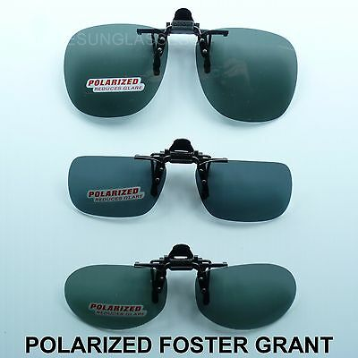 Polarized flip up clip on sunglasses foster grant fish drive unisex frame (Polarized Clip-on Sunglasses Gray)