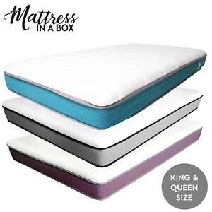 Mattress in a Box Latex Bed High-Density Foam King Queen Size
