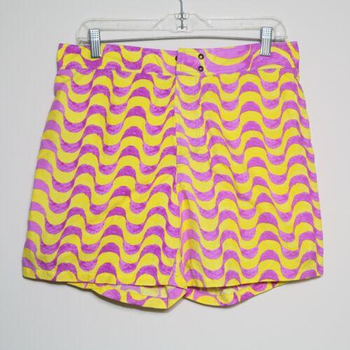 PAUL SMITH Yellow Purple Swim Trunks Board Shorts Bathing Suit Men