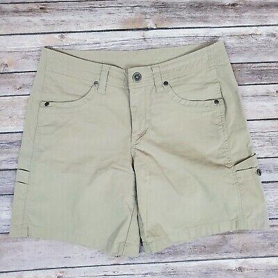 Kuhl Womens Outdoors Hiking Shorts Casual Tan Beige Size 6 - Tan Womens Shorts