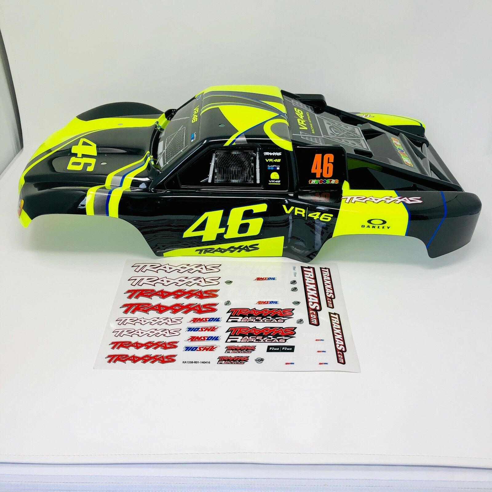 NEW Traxxas Slash VR46 Body Valentino Rossi Yellow Black GoP