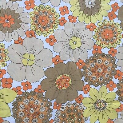 1960s Pyschedelic Flower Print Pattern Fabric French Bolster Cushion Handmade