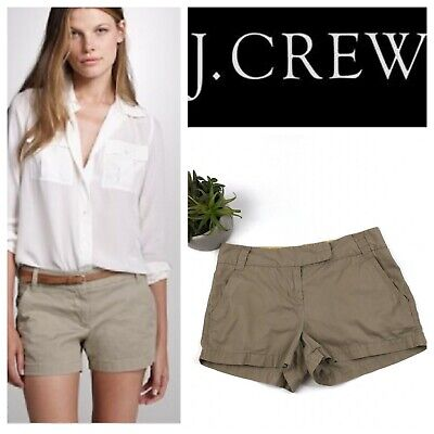 Chino-twill-khaki (J Crew Tan  Broken In Chino Twill Khaki Flat Front Shorts Size 2)