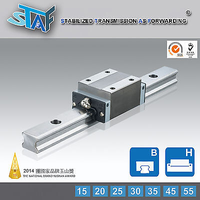 Staf Bgxh25bl-2-l820-n-z0 25type Linear Guide 820l 2 Rail 4 Block Thkhiwin Type