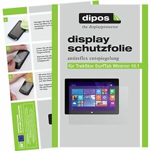 2x dipos Trekstor Surftab Wintron 10.1 matte Displayschutzfolie Antireflex