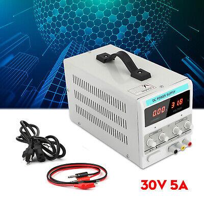 Adjustable Power Supply 30v 5a 110v Precision Variable Dc Digital Lab Wclip F1