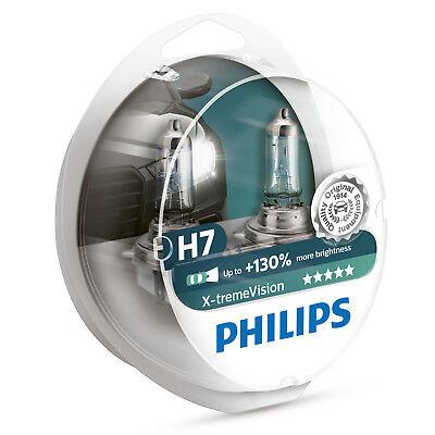 Philips Xtreme Vision +130% H7 Headlight Bulbs Twin Pack 12972XV+S2