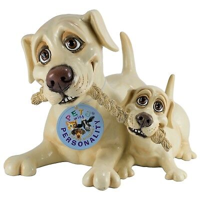 """Used, Pets With Personality Yellow Lab Labrador Retriever and Pup Figurine 7.25""""L New! for sale  Honey Brook"""