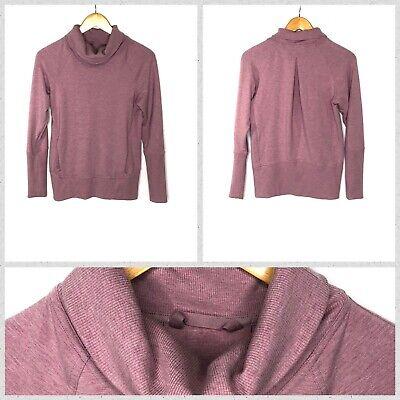Lululemon Women's Light Purple Cowl Mock Neck Pullover Sweater w/Front Pouch -XS