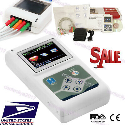 24 Hour Dynamic Ecg Holter 3 Channel Ekg System Portable Ecg Monitorpc Software