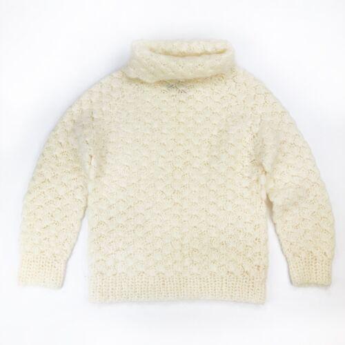 VTG 60s Handmade In Italy Tam Italia Mohair Wool Turtleneck Warm Sweater  Sz M L