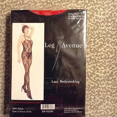 Body Stocking Avenue (Leg Avenue  SEXY Lace Body Stocking Role Play Lingerie ONE SIZE FITS MOST)
