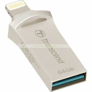 Transcend-Lightning-USB-OTG-64GB-JetDrive-Go-500-Plata-On-The-Go-Nuevo-ct-ES