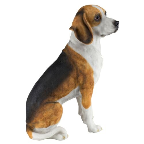 "Male Beagle Hound Dog Figurine 7.5""H Resin Statue New In Box!"