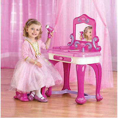 Childrens Bedroom Furniture Set - Girls Vanity Set Furniture Bedroom Princess Child Make Up Toy Table Kids Desk