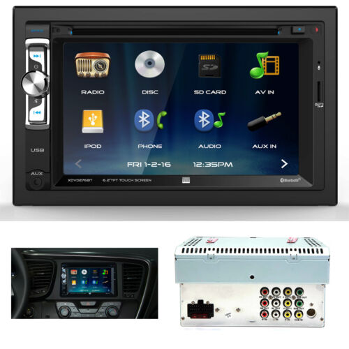 "Dual XDVD276BT 6.2"" 2-Din Motorized Touchscreen DVD Receiver w/ Bluetooth NEW"