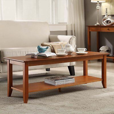 Rich Cherry Wood - Coffee Table Wood Rich Brown Cherry Discount Country Furniture Living Room Decor