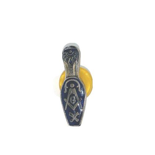 MASONIC LAPEL Pin Vintage PWII bowling Pin Shape ENAMEL